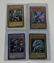 MLD LOT OF 4 Yu-Gi-Oh! Konami Rare Card Lot SDK-001 LOB-001 MOV-EN001 30... - $65.16