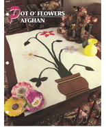 Pot O' Flowers Afghan Crochet Pattern Annies Attic Crochet & Quilt Club - $13.50