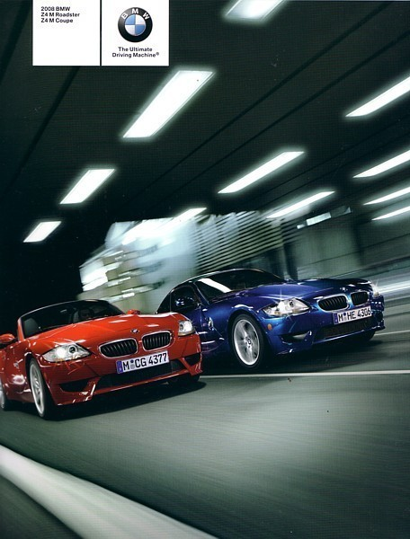 Primary image for 2008 BMW Z4 M coupe roadster sales brochure catalog US 08