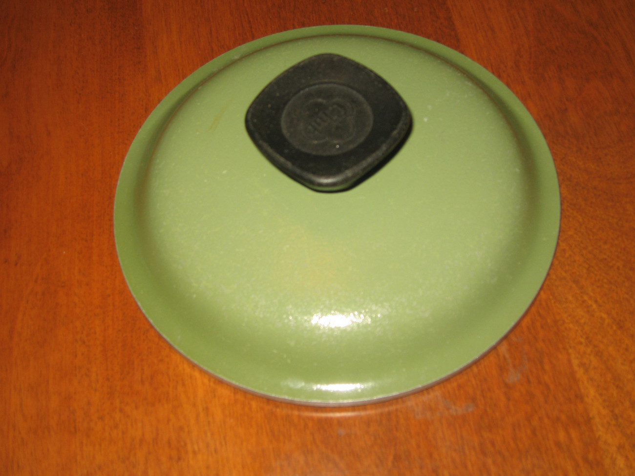 "Club aluminum cookware 6"" replacement lid and knob green EUC!"