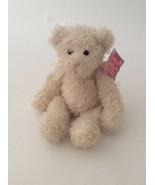 """GUND cream ivory gold CRYSTAL THE SPARKLY ANGEL TEDDY BEAR W/ BOW 10"""" plush - $11.29"""