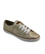 Women's Michael Antonio Stessy Gold Lace-up Cushion Sneakers SZ 7.5 New ... - $14.85
