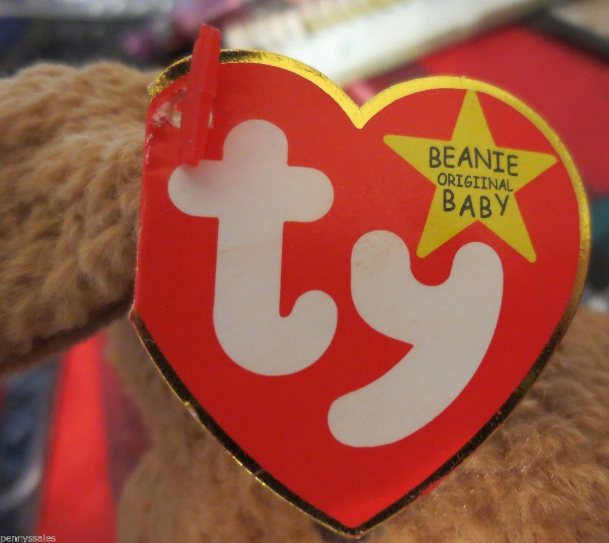 Ty Beanie Baby Tuffy 1996 5th Generation Hang Tag W/ 2 Hang Tag Errors
