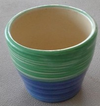 Pretty Blue Green Planter Pot - Smaller Size - Great for Indoor Flowers ... - $11.87