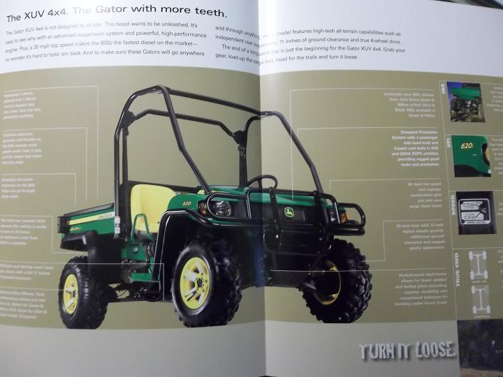 2008 John Deere Gator XUV 850D, 620i Brochure - Color