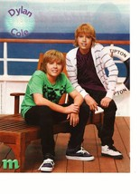 Dylan Sprouse Cole Sprouse teen magazine pinup clipping Suite Life Cruise Time