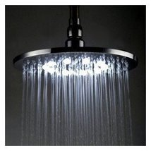 8 inch Brass Shower Head with Color Chaning LED Light - $92.15