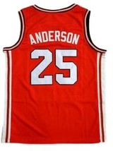 Nick Anderson Fighting Illinois College Basketball Jersey Sewn Orange Any Size image 2