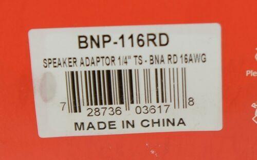 Hosa Technology BNP116RD Speaker Adaptor Quarter Inch TS To Dual Red Banana