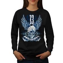 Lucky Thirteen Skull Jumper Dark Horror Women Sweatshirt - $18.99