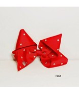 "Red Large Hair Bow - 5"" - Red With Gems Minnie Design - Sparkly Fashion ... - $3.73"