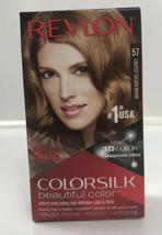 Revlon Colorsilk Beautiful Color Permanent Hair Dye #57 Lightest Golden Brown - $8.17