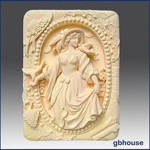 Silicone Mold, soap mold, plaster mold- Portrait of a Country Lady - $29.62