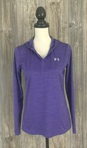 Under Armour Hoodie Pullover Loose Heat Gear Women's Small Purple V-Neck - $15.58