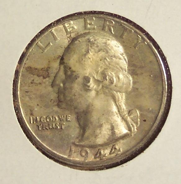1944-D Silver Washington Quarter UNC #011 image 2