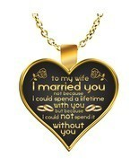 TO MY WIFE Necklace - Romantic Gift For Wife - Wife BirthDay Ideas - $19.95