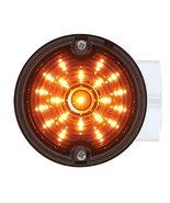 "United Pacific 31212 Amber Smoke Lens 21 LED 3 1/4"" Round Harley Signal ... - $49.45"