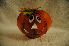 """Pumpkin Metal Halloween Table Top Stand Alone Decoration 6"""" BY 5"""" - $19.79"""