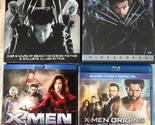 Lot of 4 X-Men Origins Wolverine X2 X-Men 1.5 X-Men The Last Stand Blu-Ray DVD