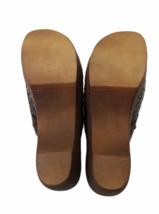 Brown Leather Dr Scholls Women Mule Clog Shoes Size 8 image 4