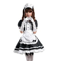 AvaCostume Women's Anime Cosplay French Apron Maid Fancy Dress Costume, ... - $23.76