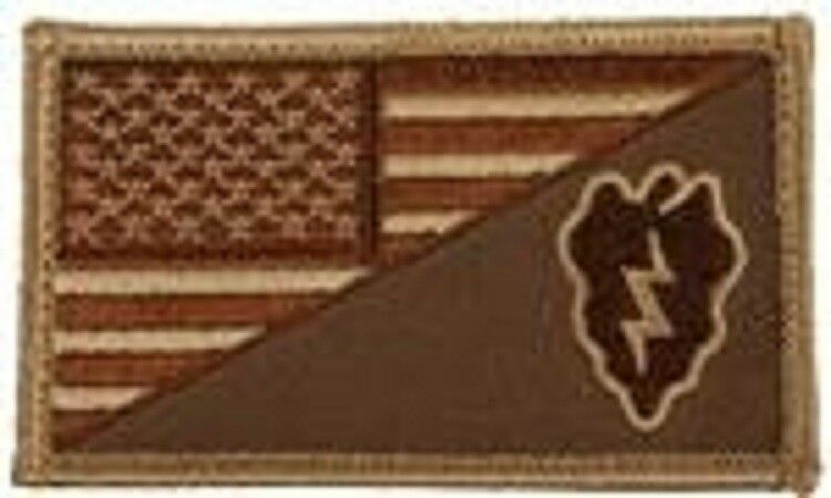 Primary image for ARMY 25TH INFANTRY DIVISION DESERT FLAG 2 X 3  EMBROIDERED PATCH WITH HOOK LOOP