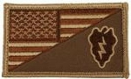 ARMY 25TH INFANTRY DIVISION DESERT FLAG 2 X 3  EMBROIDERED PATCH WITH HO... - $23.74