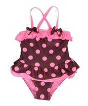 Beautiful Baby Girl Swimsuit Lovely Bow Spot Toddler Swimsuit Fushcia (2~3Y)