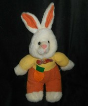 "14"" Sugar Loaf White Easter Bunny Rabbit Yellow Orange Stuffed Animal Plush Toy - $26.18"