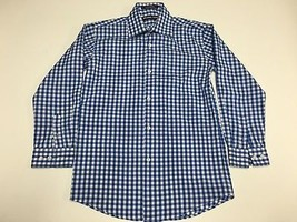 MICHAEL KORS Blue White Checkered Long Sleeve Button Down Shirt Sz 10 SM... - €25,50 EUR
