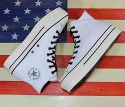 Converse Chuck Taylor All-Star Hi Push Up Plataforma Cuero Blanco [55897... - $70.88