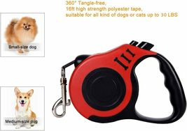 YSCPRO Retractable Pet Leash 16ft Heavy Duty, Red, For Pets Up to 30 Pounds image 3