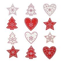 Heart&Star&Tree Wooden Diy Christmas Pendants Ornaments For Xmas Tree Or... - $3.27+
