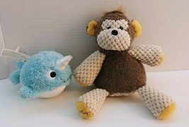Scentsy Buddy Mollie the Monkey w/ Scent Pack & Narwhal Bitty Buddy Lot of 2 Ret - $24.09