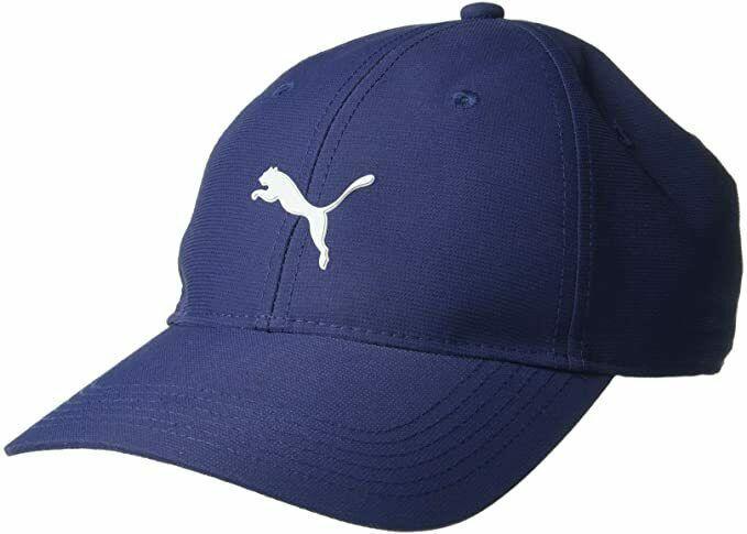 New 2018 PUMA Golf Pounce Adjustable Tech Cap / Peacoat/ Free Puma Hat Clip - $22.77