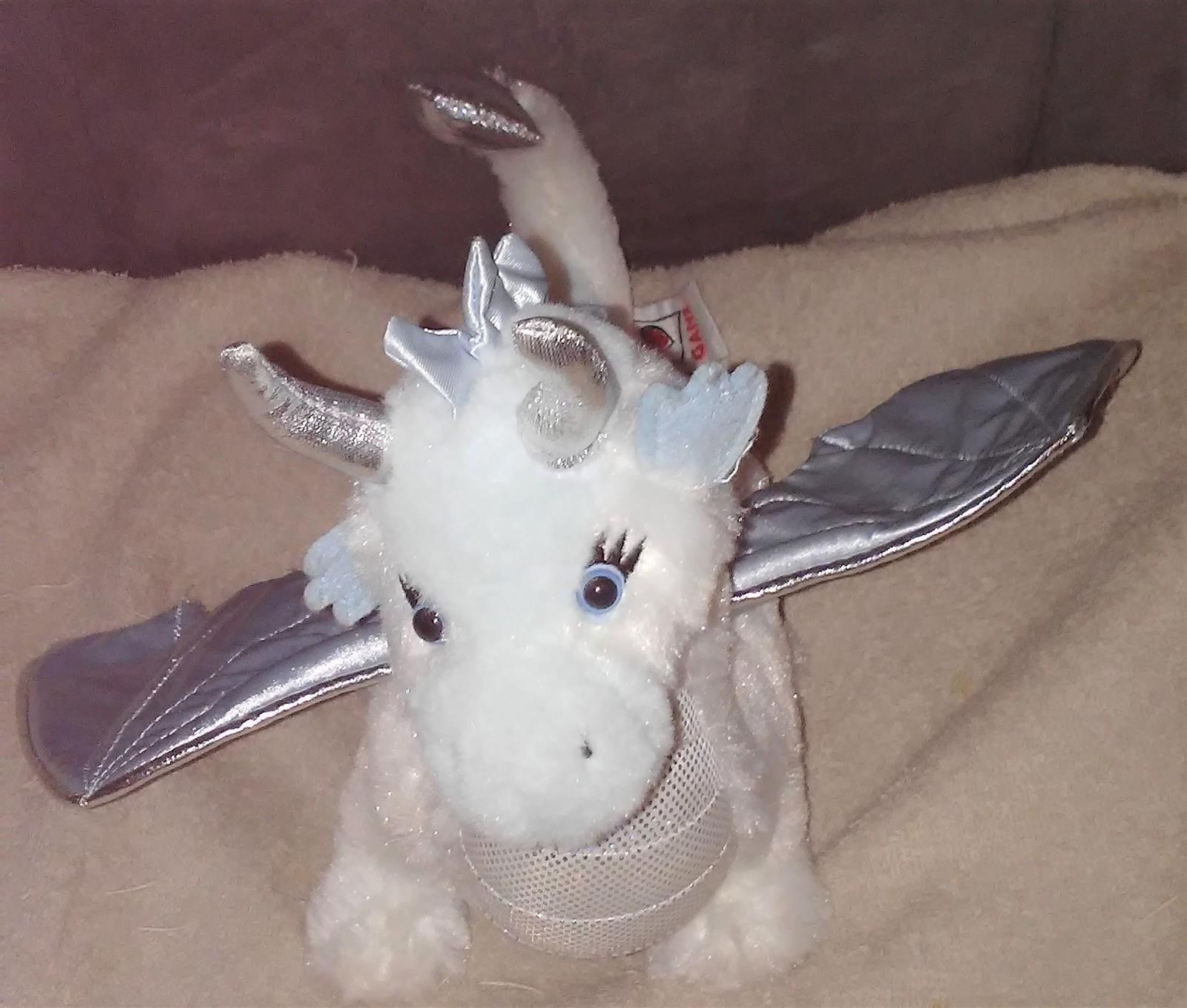 "Webkinz ICE DRAGON Plush by Ganz NO CODE 9"" Tall x 12"" Long"