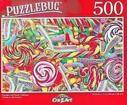 Puzzlebug 500 Piece Jigsaw Puzzle Candies and Swirly Lollipops - NEW - $8.88