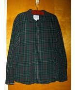St John's Bay Flannel Shirt Men's Green Plaid S... - $17.99