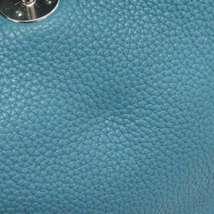 HERMES Lindy 34 Taurillon Clemence Blue Jean Handbag Shoulder Bag #Q Authentic image 6