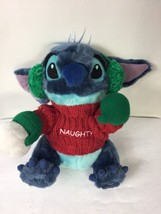 Disney Exclusive Blue STITCH Plush Naughty Sweater Stuffed Animal Earmuf... - $14.85