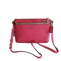NWT COACH Crossbody Bag w/Pop Out Pouch Strawberry Pink Purse Retail $225 - $127.71