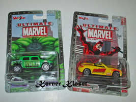 Lot of 2 Maisto Ultimate Marvel Series 1 Cars - Daredevil #15 & Hulk #12... - $18.33