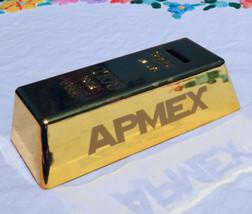 APMEX Gold Bullion Bar Piggy Bank Storage Coin Money Cash Saving Box Gif... - $9.89