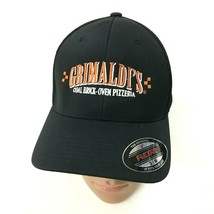 NEW FlexFit Pizzeria Hat Black Baseball Cap Ventilated Size S/M Brick Ov... - $17.31
