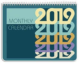 """BookFactory 2019 Monthly Wall Calendar 11"""" X 8 .5"""" / 2019 Monthly Planne... - $12.18"""