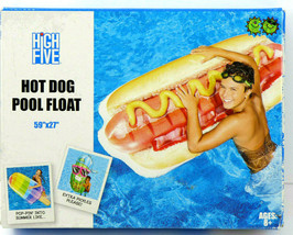 """High Five Giant Inflatable Hot Dog Pool Float 59"""" x 27""""  - $23.99"""