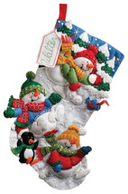 Bucilla 'Snow Fun' Felt Christmas Stocking Stitchery Kit, 86108 - $27.99
