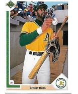 Baseball Card- Ernest Riles 1991 Upper Deck #780 - $1.25
