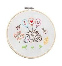 2 Pack Handmade Embroidery Material Kits Simple Cross-stitch Paintings, ... - $23.00