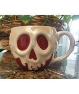 New Disney Parks Halloween 2020 Red Poison Apple Cauldron Ceramic Mug - £25.40 GBP